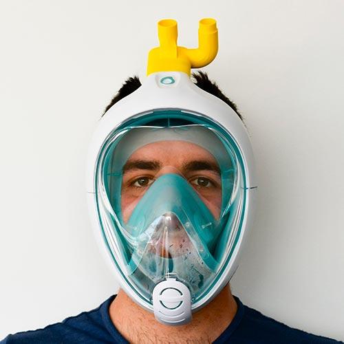 smart working maschera respirazione